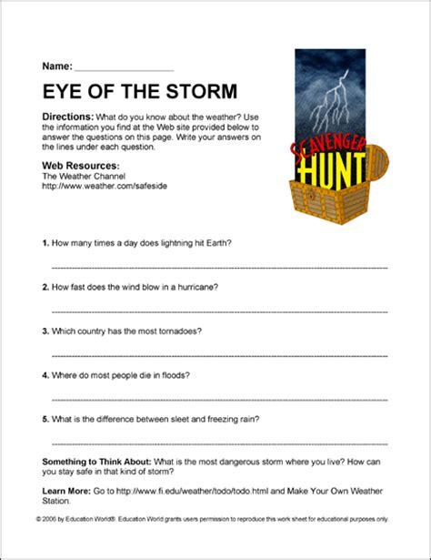scavenger hunt eye   storm education world