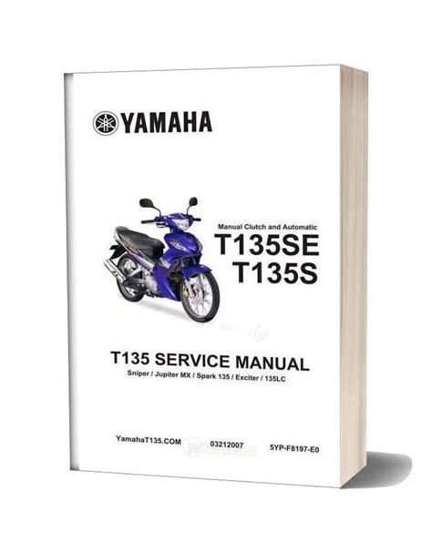 yamaha t135 service manual complete
