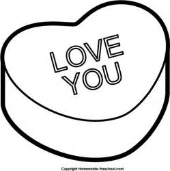 Candy Heart Clip Art Black and White