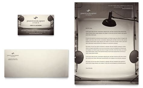 photography studio business card letterhead template design