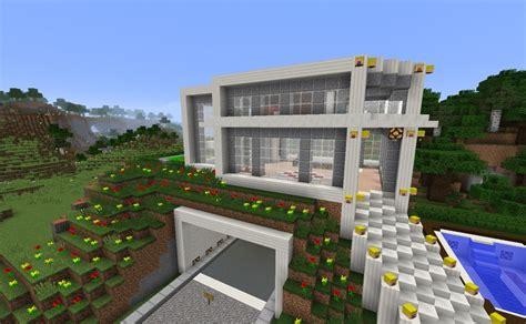 ᐅ Modernes Haus Mit Garage In Minecraft Bauen Minecraft