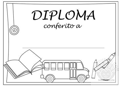 disegni bambini diplomati scuola infanzia diploma scuola infanzia da colorare tuttodisegni