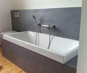 Wasserfeste Wandverkleidung Bad : badewanne in terreno zemtentputz farbefreudeleben ~ Markanthonyermac.com Haus und Dekorationen