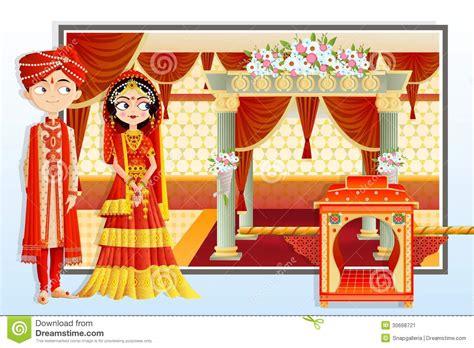 indian wedding couple stock image image