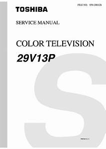 Toshiba Color Tv 29v13p Schematic Service Manual Download