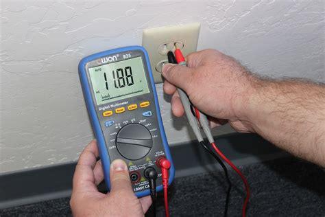 Testing Electrical Outlet Using Digital Multimeter
