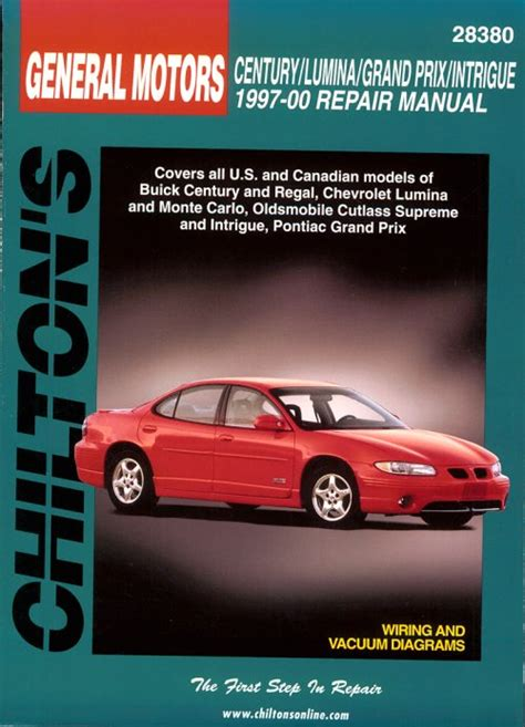 car repair manuals online free 2001 chevrolet monte carlo spare parts catalogs 1997 2000 buick century regal chevy lumina monte carlo olds cutlass supreme pontiac