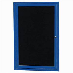 aarco oadc2418ib 1 door outdoor illuminated enclosed With outdoor changeable letter boards