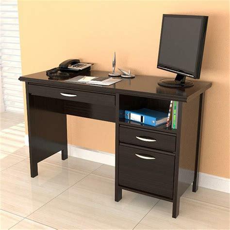 desk with file drawer contemporary espresso computer desk w drawers file cabinet