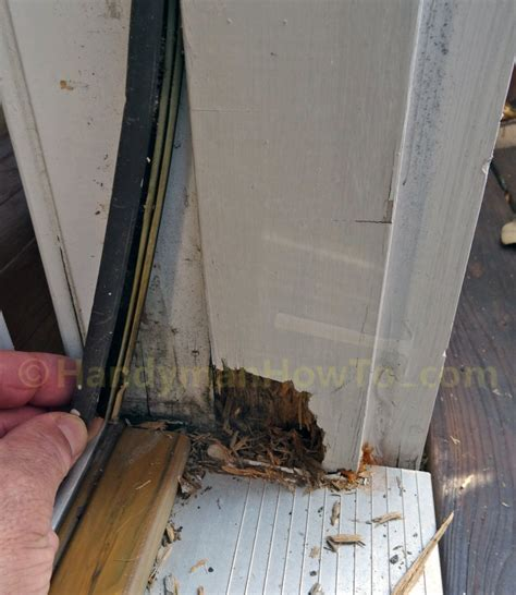 door jamb replacement how to repair a rotted exterior door frame handymanhowto