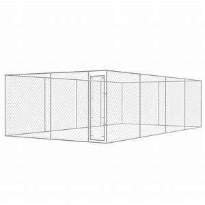Chenil Extérieur Pour Chien : vidaxl chenil ext rieur pour chiens acier galvanis 8x4 m cage enclos cl tures accessoires ~ Melissatoandfro.com Idées de Décoration