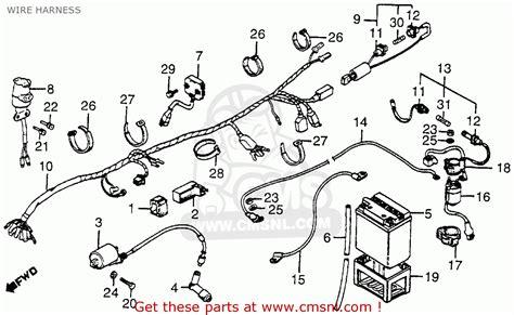 honda atc200e 1983 d big usa wire harness buy wire harness spares