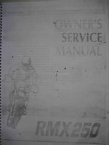 Suzuki Rmx 250 Owner U0026 39 S Service Manual