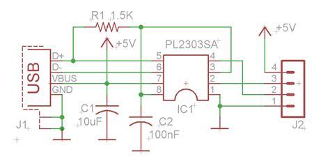 usb to serial converter using pl2303sa electronics lab