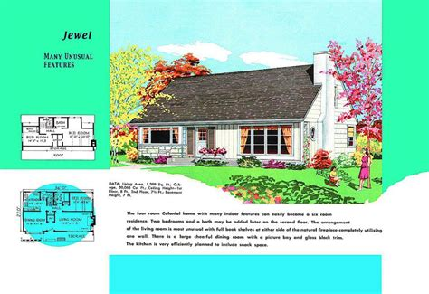 center colonial floor plan cape cod house plans 1950s america style