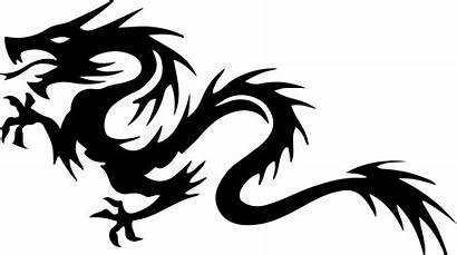 Dragon Clipart Tribal Tail Vector Silhouette Line