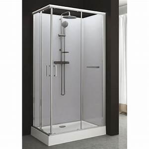 Cabine De Douche Rectangulaire : cabine de douche rectangulaire 80 x 120 cm portes ~ Melissatoandfro.com Idées de Décoration