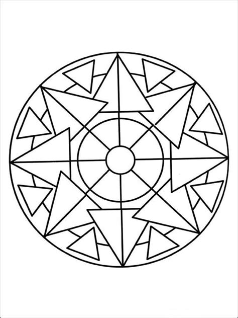 simple mandala coloring pages  adults  printable