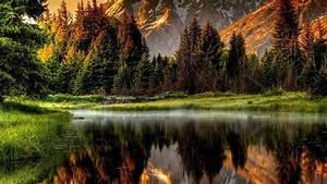 Reflected Mountain Scene
