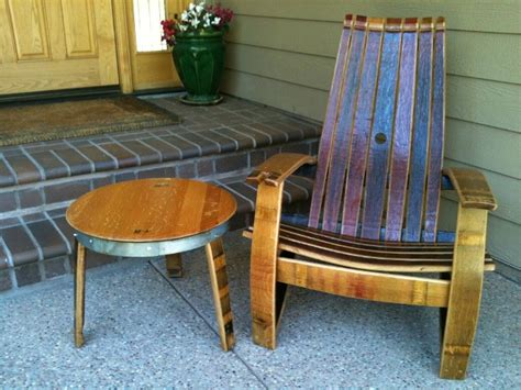 wine barrel products patio furniture adirondack chair