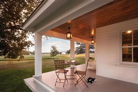 White Wood Siding And Wood Ceilings Also