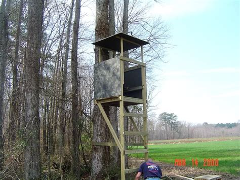 Homemade Wooden Deer Ladder Stands