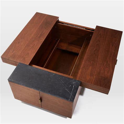 coffee table with hidden storage hyde hidden storage secret mini bar coffee table so