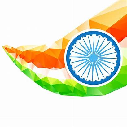 Flag Indian Vector Artistic Wave India Clipart
