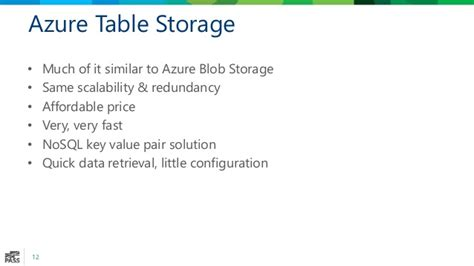 azure table storage pricing survey of the microsoft azure data landscape