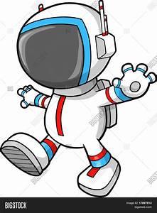 Astronaut Walking Vector Vector & Photo   Bigstock