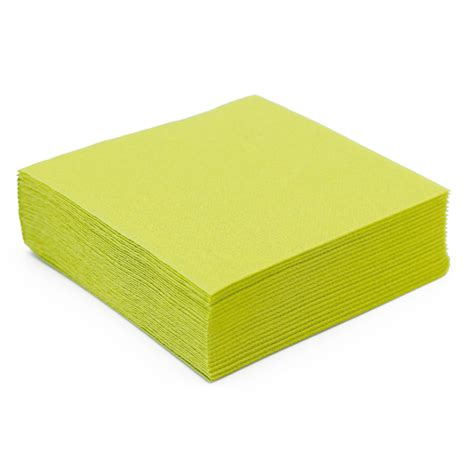 serviette de table en papier vert kiwi microgaufr 233