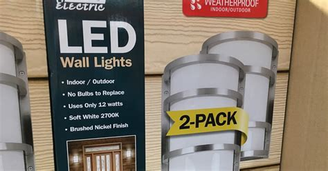 feit electric led wall sconce lights 2 costco weekender