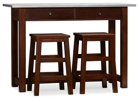 narrow counter height table balboa counter height table and stools espresso