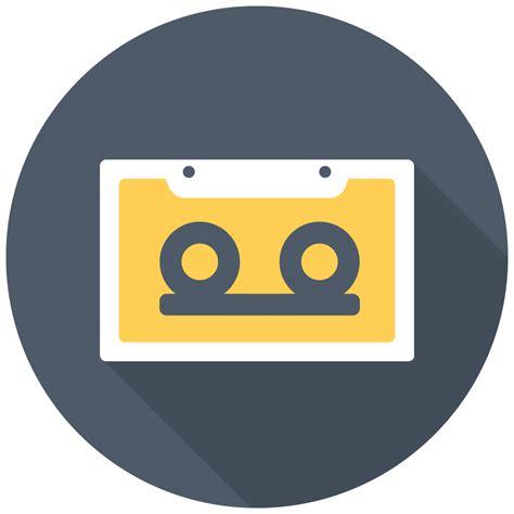 cassette icon  flat multimedia iconset designbolts