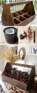 Natural, Fall, Decor, Repurpose, The, Old, Toolbox, Into, This, Amazing, Rustic, Centerpiece, For, Your, Fall
