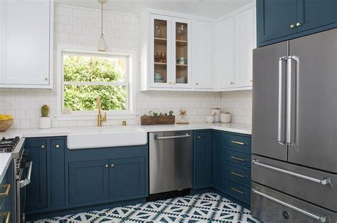 Dark Blue Kitchen Cabinets Design Ideas