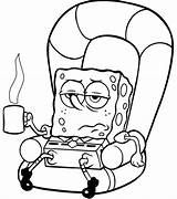 Weed Coloring Smoking Pages Spongebob Sheets Open sketch template