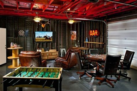 industrial style tv lift 50 gaming cave design ideas for manly home retreats
