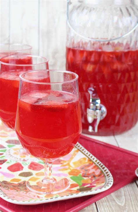 sparkling strawberry punch  country cook drinks