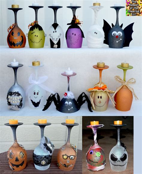 Halloween Wine Glass Candle Holders  The Keeper Of The