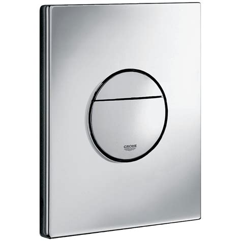 installing shower grohe dual flush wc wall plate chrome 38765000