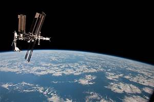 The International Space Station And The Docked Space
