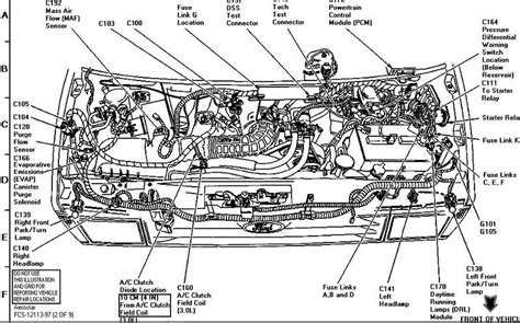 Wiring Diagram For 2002 Ford Ranger by 2002 Ford Ranger Parts Diagram Automotive Parts Diagram
