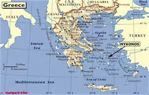 Mykonos Greece Map