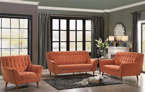 Erath Orange Living Room Set  Homelegance Coleman
