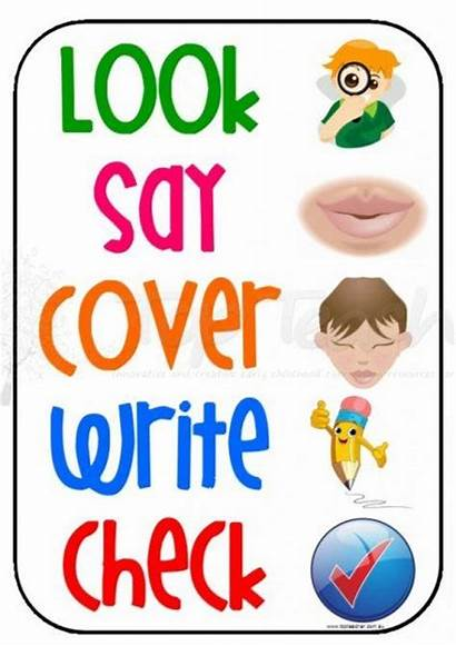 Spelling Write Say Check Poster Activities Word