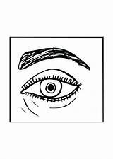 Coloring Eye London Tattoo Eyes Cliparts Dachshund Eyeball Printable Getcolorings sketch template