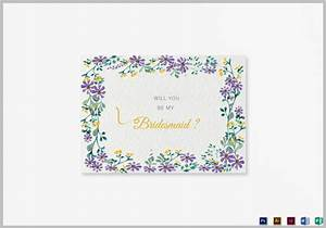 19 bridesmaid cards editable psd ai indesign format With will you be my bridesmaid letter template
