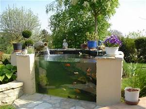 Bac à Poisson Extérieur : bassin hors sol avec vitre ~ Teatrodelosmanantiales.com Idées de Décoration