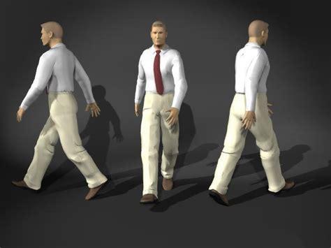 Businessman walking pose 3d model 3D Studio,3ds max,Cinema